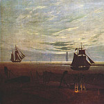Caspar David Friedrich - evening by the baltic 1831