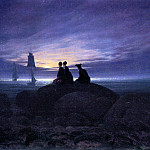 Caspar David Friedrich - Moonrise over the sea Sun