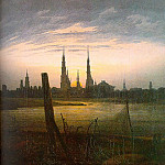 Caspar David Friedrich - City at Moonrise