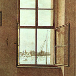 Caspar David Friedrich - View from the Painters Studio