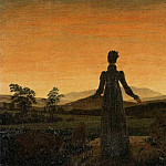 Caspar David Friedrich - Woman Before The Rising Sun