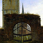 Caspar David Friedrich - The Cemetery Gate