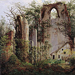 Karl Kuntz - Ruins of the Eldena Monastery near Greifswald