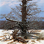 Carl Blechen - Oak Tree in the Snow