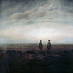 Johann Erdmann Hummel - Two Men by the Sea