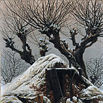 Caspar David Friedrich - Hut in the Snow