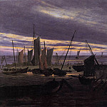 Caspar David Friedrich - Boats In The Harbour At Evening