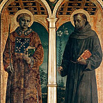Lorenzo Lotto - Altarpiece of S. Maria delle Grazie, Bergamo - Sts Vincent and Anthony