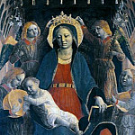 Vincenzo Foppa - Altarpiece of S. Maria delle Grazie, Bergamo - Madonna and Child