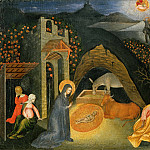 Giovanni di Paolo - Nativity and the Annunciation to the Shepherds