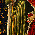 Benozzo Gozzoli - Saint Ursula with Angels and Donor, 1455, 47x28.6