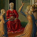 Benozzo Gozzoli - The Dance of Salome, 1461-62, 23.8x34.3 cm, Detalj