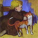 Paul Gauguin - Mimi And Her Cat
