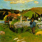 Paul Gauguin - The swineherd, Brittany, 1888, 74x93 cm, Los Angeles