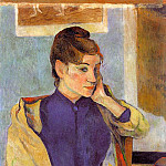 Paul Gauguin - Portrait of Madeline Bernard (The sister of the arti