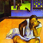 Paul Gauguin - Te Faaturuma (Brooding Woman)