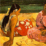 Paul Gauguin - Femmes de Tahiti (Sur la plage) (Tahitian Women On the Beach) 1891