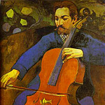 Paul Gauguin - The Cellist (Portrait Of Upaupa Scheklud)