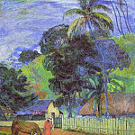 Paul Gauguin - Horse On Road. Tahitian Landscape