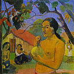 Paul Gauguin - Eu Haere Ia Oe (Woman Holding A Fruit)