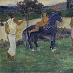 Paul Gauguin - Composition with Figures and a Horse