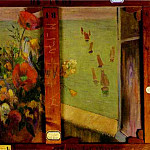 Paul Gauguin - Bouquet Of Flowers With A Window Open To The Sea