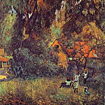 Paul Gauguin - Huts Under Trees
