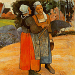 Paul Gauguin - Paysanes Bretones (Breton peasant women) 1894 Oil on