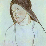 Paul Gauguin - Head Of Young Breton Peasant Woman