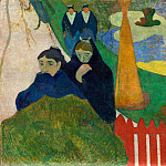 Paul Gauguin - Women From Arles In The Public Garden, The Mistral