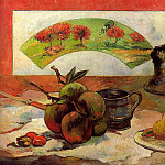 Paul Gauguin - Still Life with Fan, 1889, oil on canvas, Musee dOr