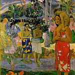 Paul Gauguin - We hail thee Mary, 1891, 113.7x87.7 cm, Metropolitan
