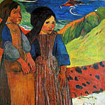 Paul Gauguin - Two Breton girls Sun
