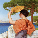 John William Godward - On the Balcony
