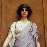 John William Godward - The Priestess of Bacchus