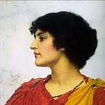 An Italian Girls Head, John William Godward