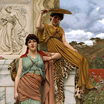 John William Godward - Waiting for the procession