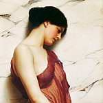 John William Godward - The Tambourine Girl