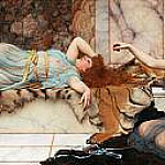 John William Godward - Mischief and Repose