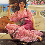 John William Godward - Flabellifera