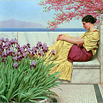 Джон Уильям Годвард - Godward_Under_the_Blossom_that_Hangs_on_the_Bough