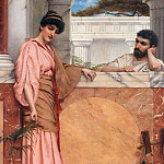 John William Godward - Waiting for an Answer