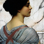 John William Godward - Pompeiean beauty