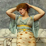 John William Godward - BEAUTY IN A MARBLE ROOM