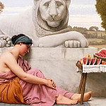 The Fruit Vendor, John William Godward