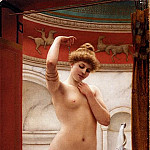 John William Godward - The bather
