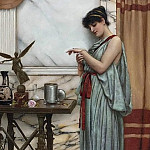 John William Godward - His birthday gift