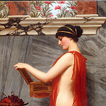 John William Godward - The Jewel Box