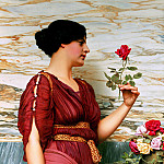 John William Godward - A Red Rose