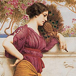 The Peacock Fan, John William Godward